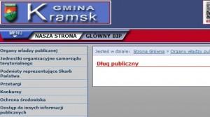 Dług publiczny gminy Kramsk 3