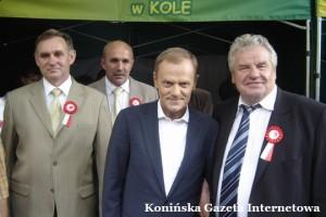 premier Donadl Tusk i prezes Czesław Cieślak