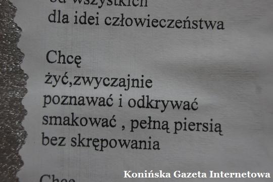 Poezja Chcę Poznawać Odkrywać Smakować Konińska Gazeta