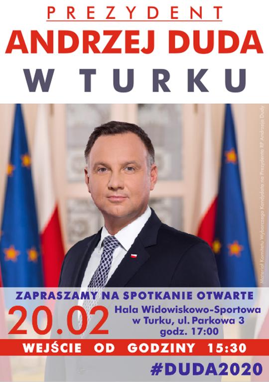 WYBORY PREZYDENCKIE 2020. Prezydent Andrzej Duda w Turku ...